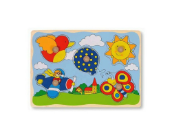 Ballon, soleil, oiseau, avion, papillon