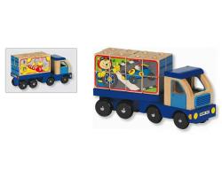 Camion avec cubes