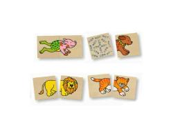 Mémo et puzzle animaux rigolos