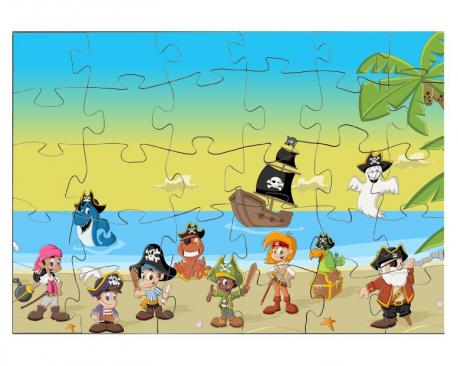 Pirates avec leur bateau